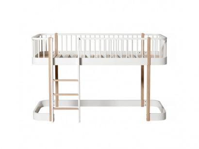 wood loft bed