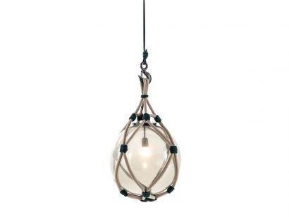 094 Bollicosa Nautilus Suspension Lamp Outdoor-Ø 30 cm-Smoked