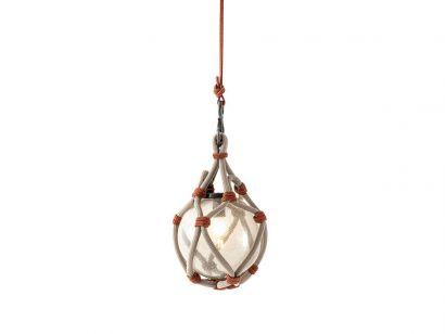 094 Bollicosa Nautilus Suspension Lamp Outdoor-Ø 50 cm-Pink