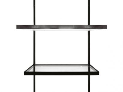 Men Sole Rated Shelf System With Electrified Vertical Rods