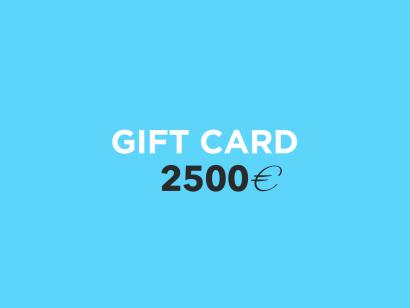 Carte Cadeau 2500