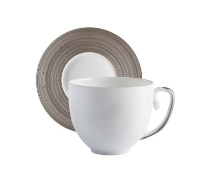 Hémisphère Platinum Tasse Espresso avec Soucoupe Ø 11,5 cm