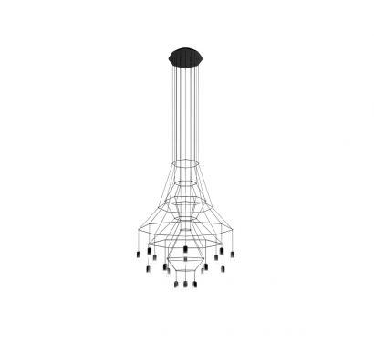 Wireflow Chandelier Lampe à Suspension