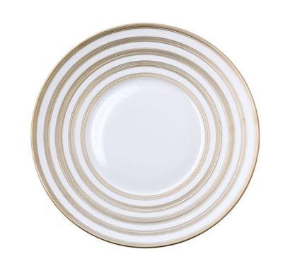 Hémisphère Platinum Stripe Assiette de Presentation Ø 31,5 cm