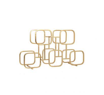 Gavi Wine Rack Brass