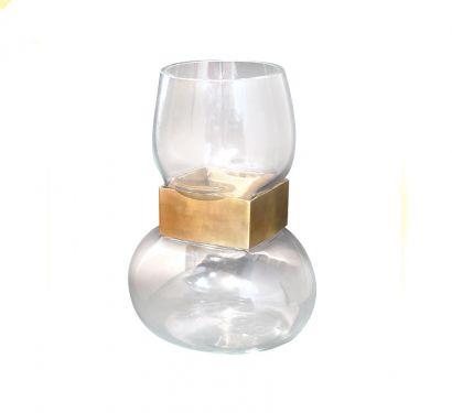 Vase Slave Square Gold Vaso