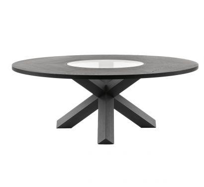 456 Pantheon Table Wood/Crystal