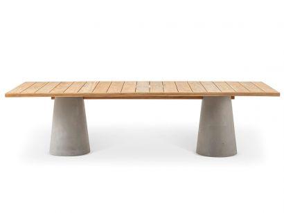 477 Dine Out Rectangular Table - 280 Teak Cassina by Rodolfo Dordoni