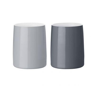 Emma Thermo Mug 2 pcs Grey Ø 8 cm - H. 10 cm