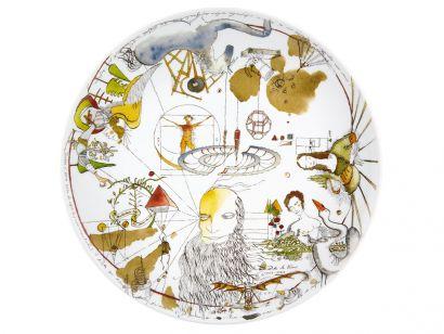 Da Vinci 500 Anos Dinner Plate