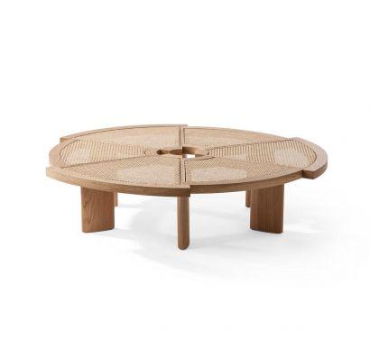 529 Rio Side Table - Natural Oak / Vienna Straw