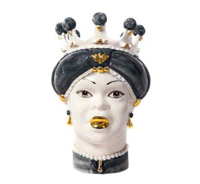 Moro Lady Medium Vaso Gray/Gold