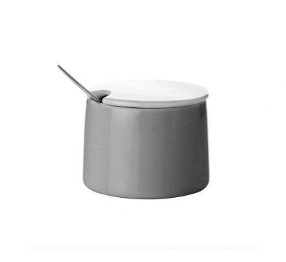 Emma Sugar Bowl Grey Ø 8 cm - H. 6,5 cm