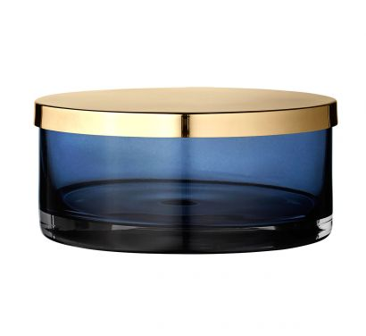 Tota Pot - Grand avec Couvercle Navy/Brass