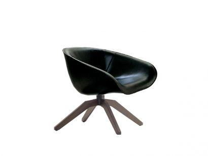 Mart Swivel Leather Armchair