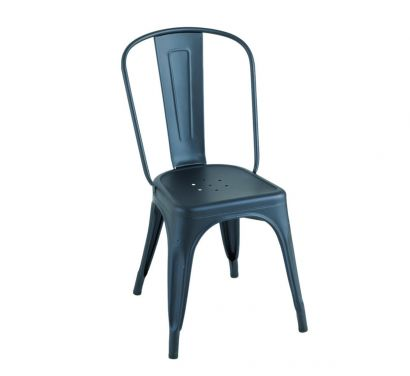 A Chair - Matt Fine-Textured Bleu Acier
