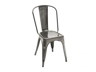 A Chair - Outdoor Perforated Stainless Steel