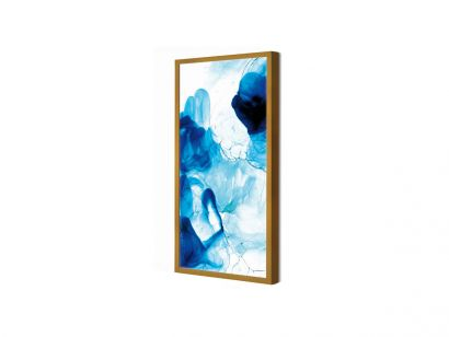 Acquarelli Framed Light Fixture in Shades of Blue Resin