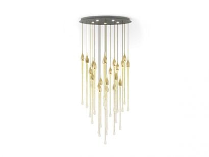 Allure Chandelier Oval Suspension Lamp