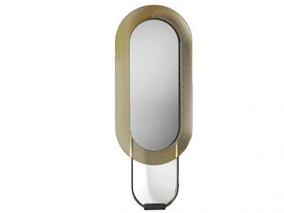 Kathleen Floor Mirror - Oval / Amber