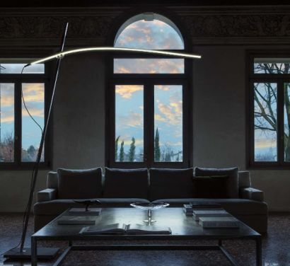 Archetto Shaped Floor Lamp Cantilevered