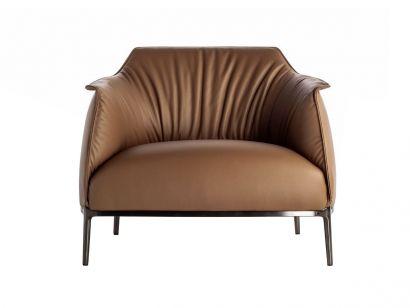 Archibald Large Armchair - Leather Frau SC 48 Tonka