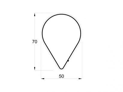 Arrangements Drop Down L. 50 cm - H. 70 cm - 30W