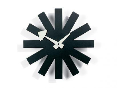 Asterisk Wall Clock - Black