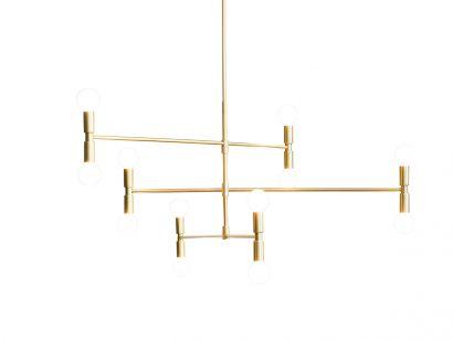 Atomium Suspension Lamp - Brass 108