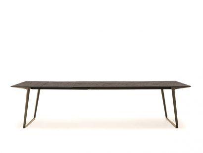 Axy Extension Table - 100x220 Light Oak/Bronze