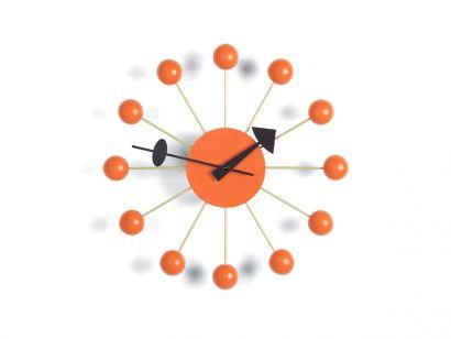 Ball Wall Clock - Orange