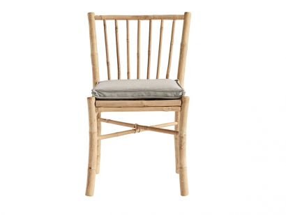 Bamboo Dining Chair with Cushion