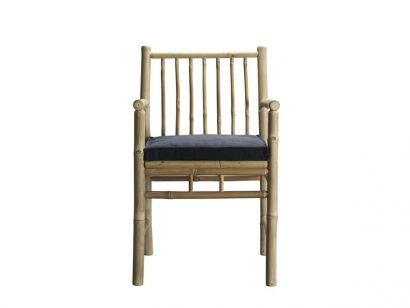 Bamboo Dining Table Chair with Armrest - Phantom Mattress