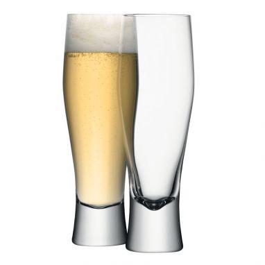 Bar Lager Glass Set 4 Glasses