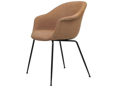 Bat Dining Chair - Fully Upholstered Hot Madison Reloaded Chivasso / Conic Legs Black matt