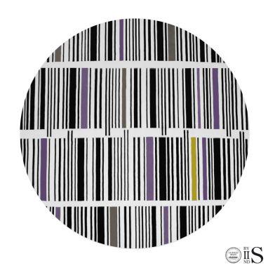 B-Code White/Black/Yellow & Purple Tappeto