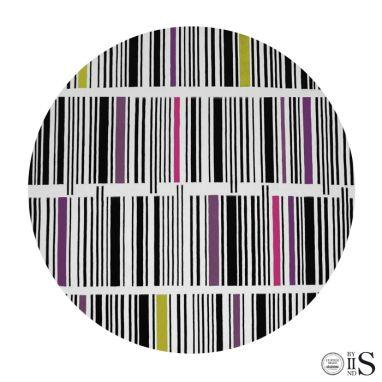 B-Code White/Black/Yellow/ Pink & Purple Tappeto