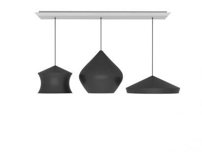 Beat Trio Linear Suspension Lamp