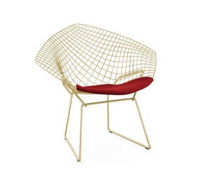 Bertoia Diamond Chair - Gold Base