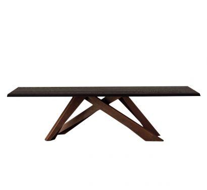 Big Table - Anthracite Grey Polished Oak - Corten Legs L. 220