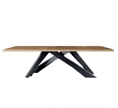 Big Table - Solid American Walnut - Grey Legs L. 200