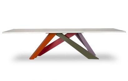 Big Table - White Matt Lacquered Top L.220