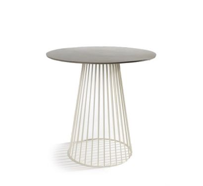 Bistrot Small table Ø 50 White