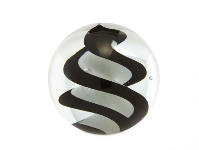 Glass Paperweight - Black & White