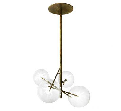 Bolle Lampada a Sospensione 4 Sfere LED H. 128