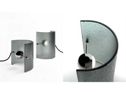 Bonfire Table Lamp-33 cm x 20 cm x 50 cm-Mirto