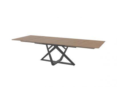 Millennium Extendable Table - Natural Oak / Anthracite