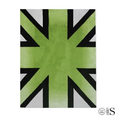 Brick Line Green/Grey/Black Tappeto
