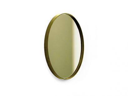 Visual Round Mirror - Ø52 cm / Burnished Brass Frame / Bronze Mirror
