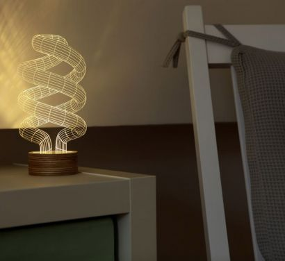 Bulbing Spiral Table Lamp